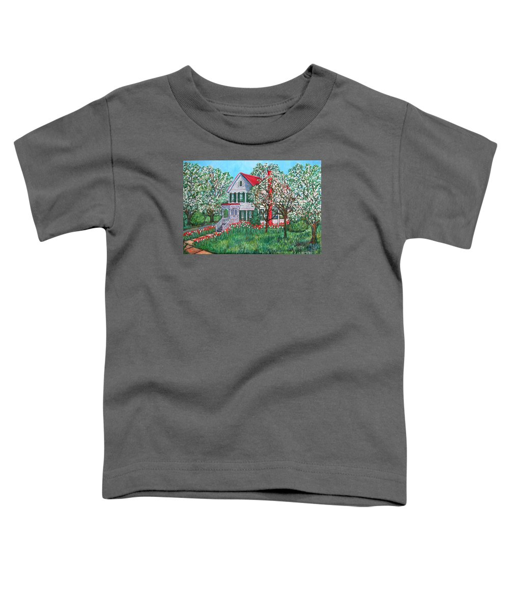 Home Toddler T-Shirt featuring the painting Esther's Home by Kendall Kessler