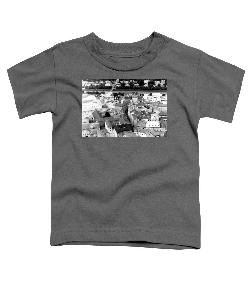 Rofftops Toddler T-Shirt featuring the photograph European Rooftops by Michelle Calkins
