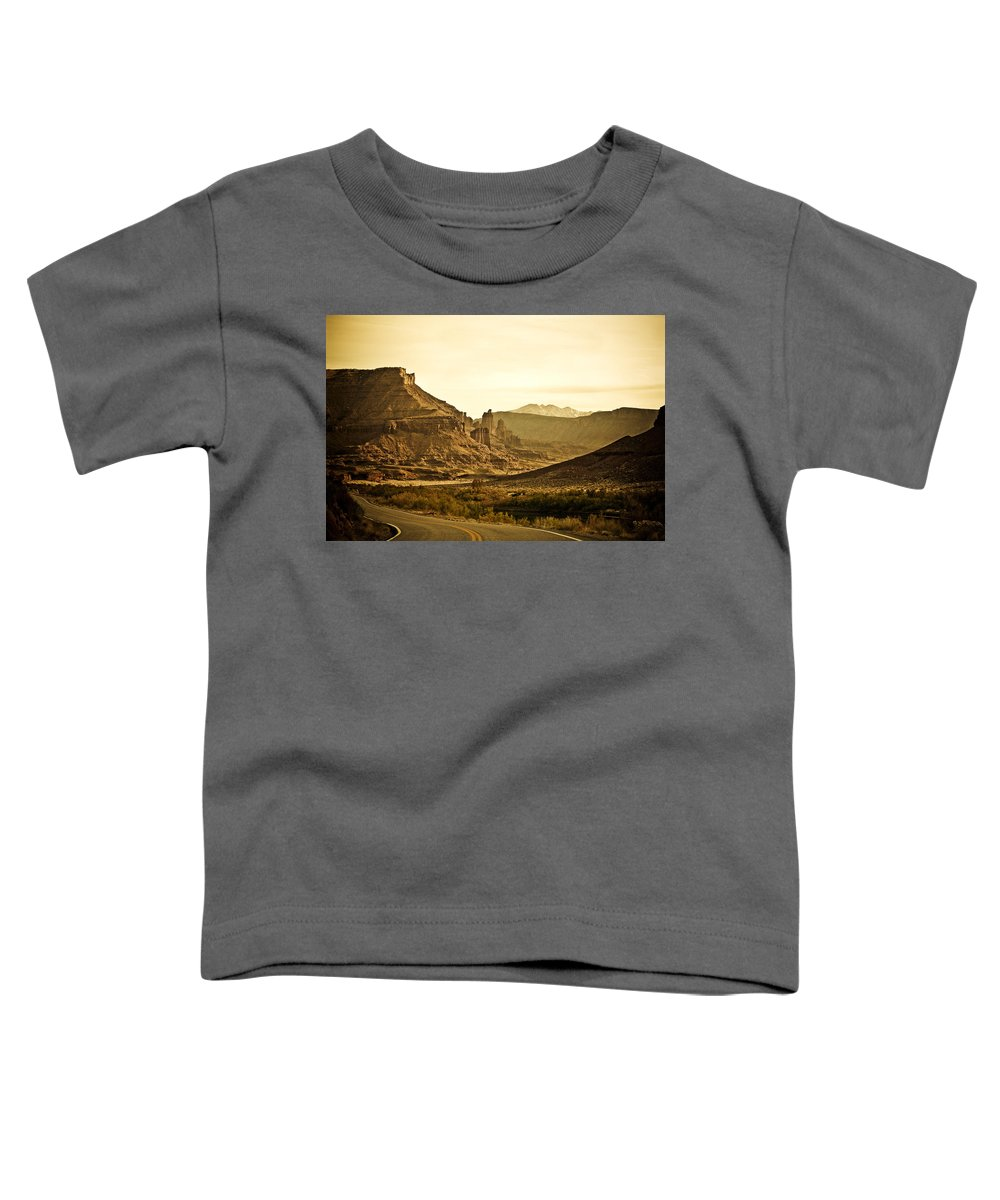 Americana Toddler T-Shirt featuring the photograph Evening In The Canyon by Marilyn Hunt