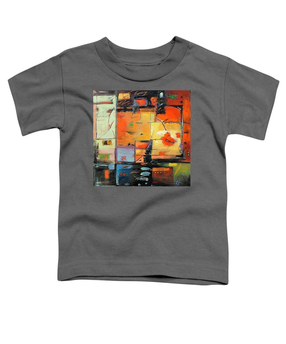 Abstract Painting Toddler T-Shirt featuring the painting Evening Light by Gary Coleman