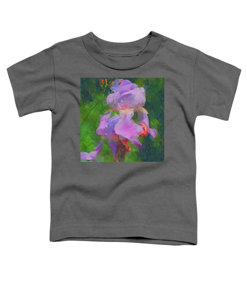 Iris Toddler T-Shirt featuring the painting Fading Glory by David Lane