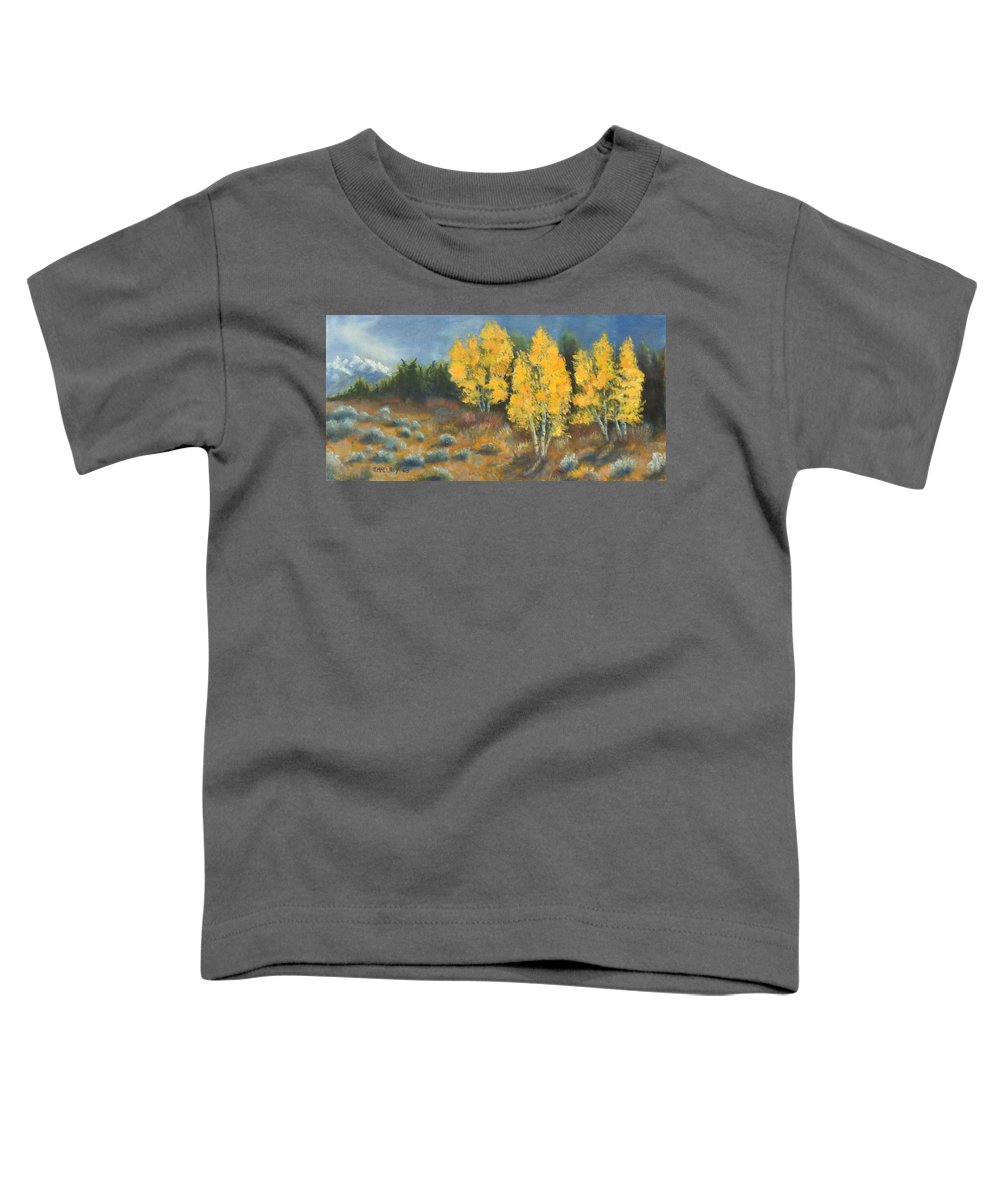 Landscape Toddler T-Shirt featuring the painting Fall Delight by Jerry McElroy
