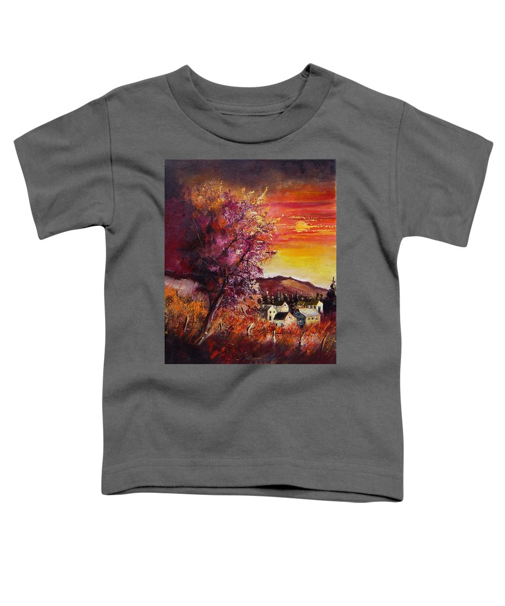 Autumn Toddler T-Shirt featuring the painting Fall In Villers by Pol Ledent