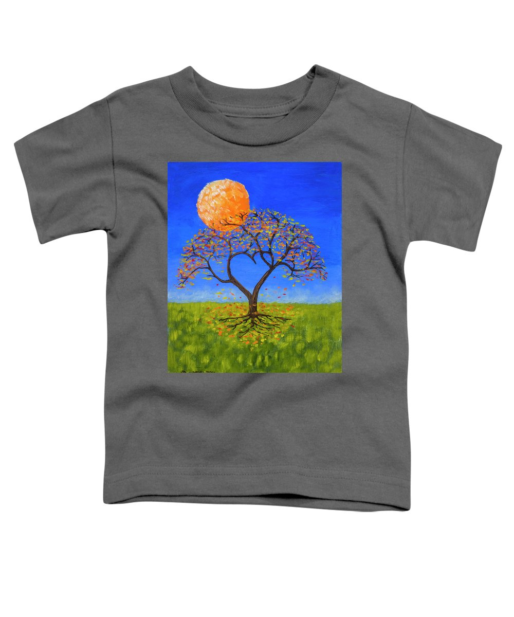 Love Toddler T-Shirt featuring the painting Falling For You by Jerry McElroy