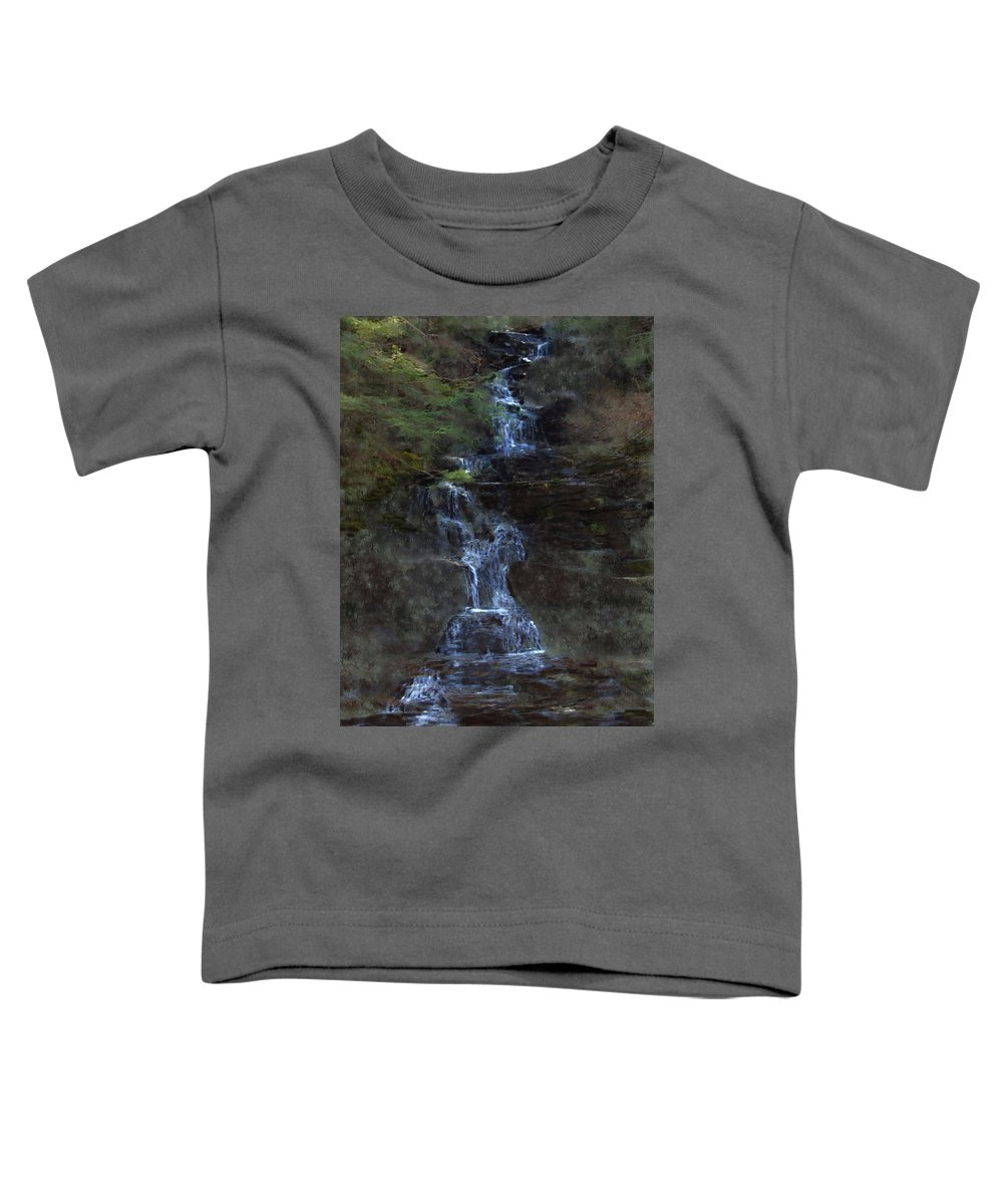 Toddler T-Shirt featuring the photograph Falls At 6 Mile Creek Ithaca N.y. by David Lane