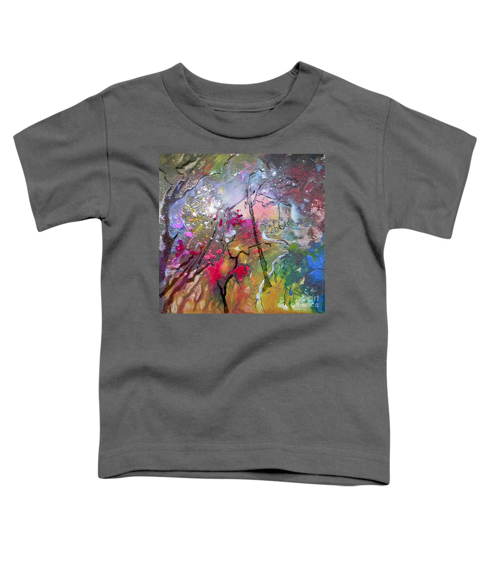 Miki Toddler T-Shirt featuring the painting Fantaspray 19 1 by Miki De Goodaboom