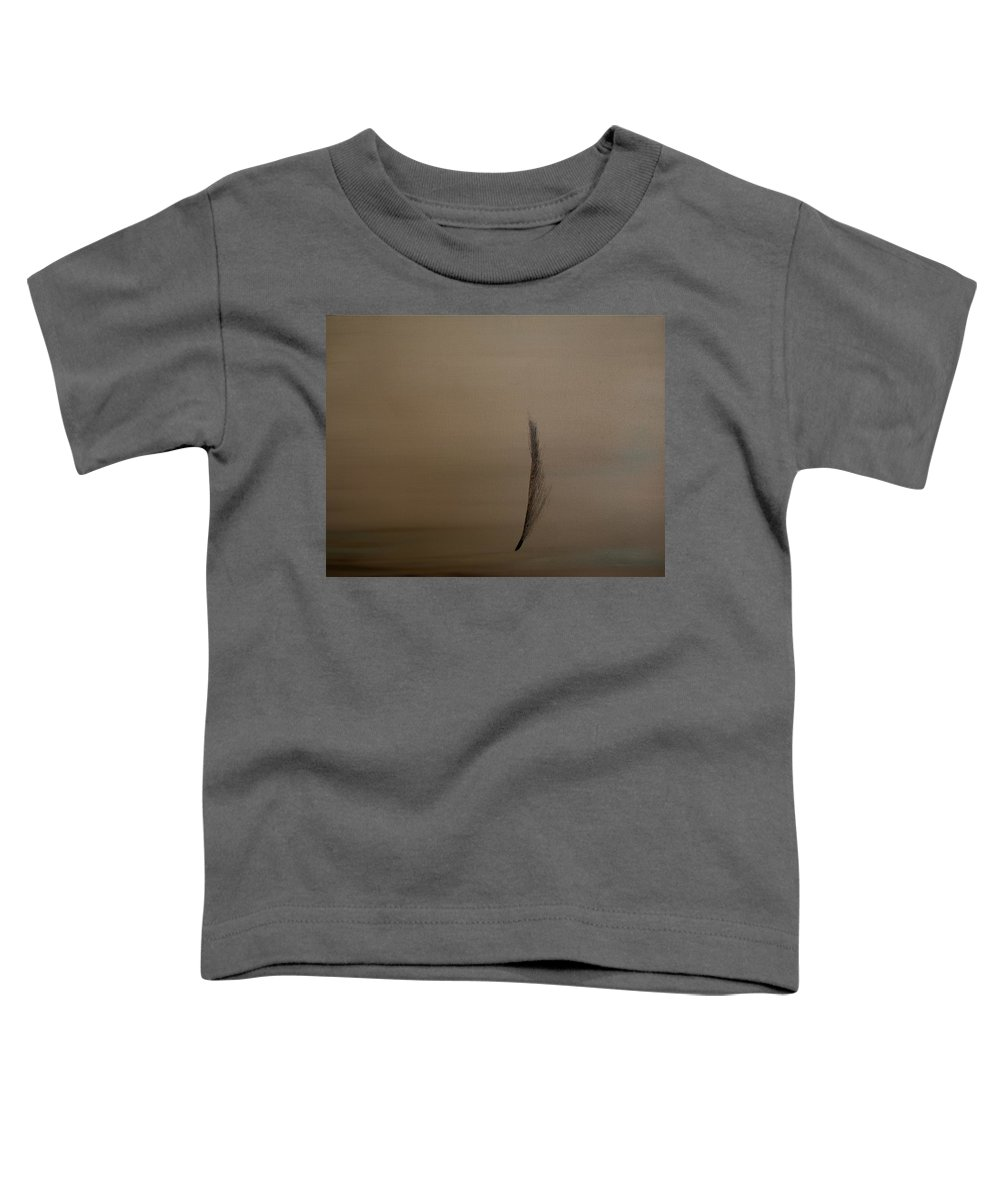 Feather Toddler T-Shirt featuring the painting Feather by Jack Diamond