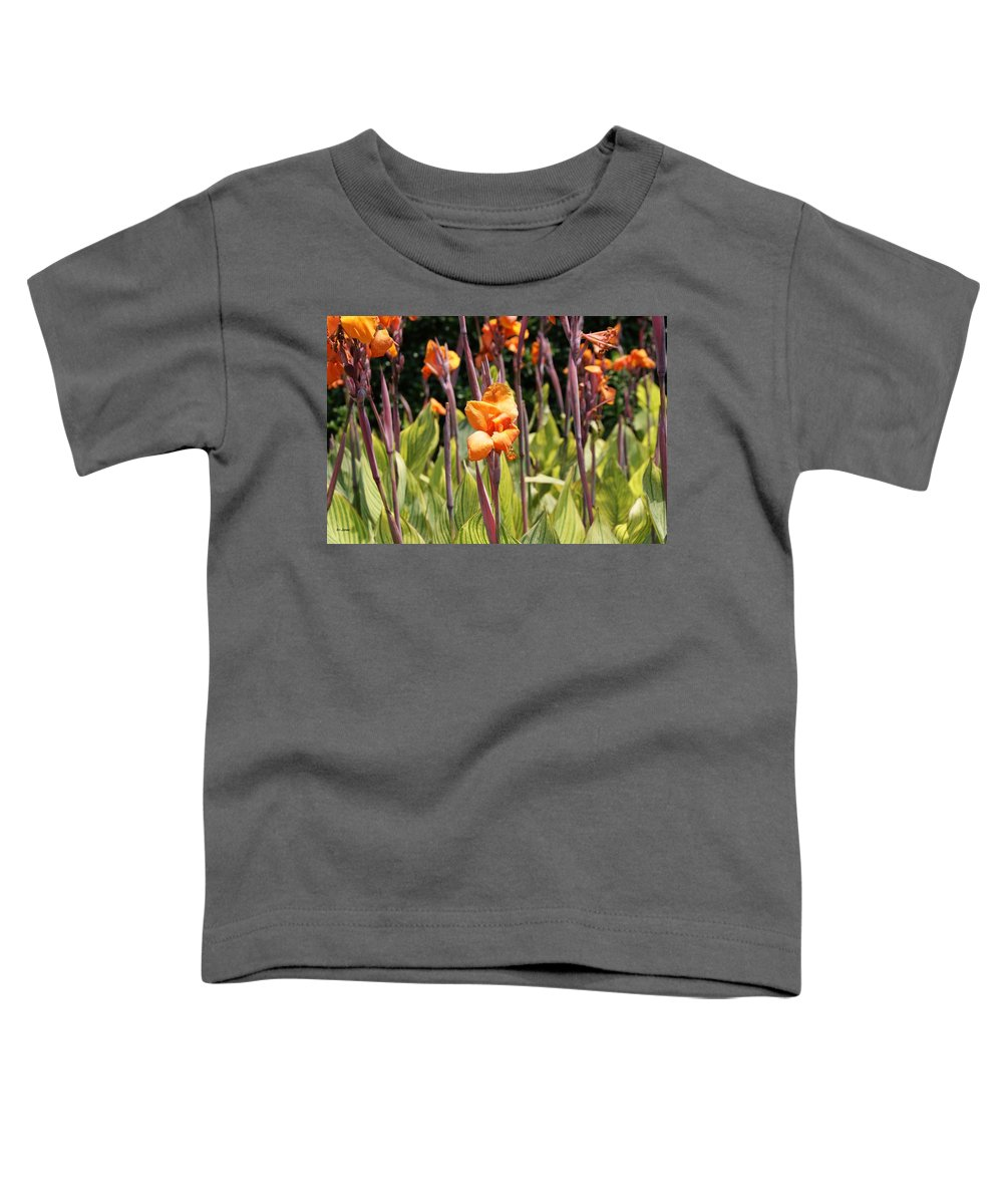 Floral Toddler T-Shirt featuring the photograph Field For Iris by Shelley Jones