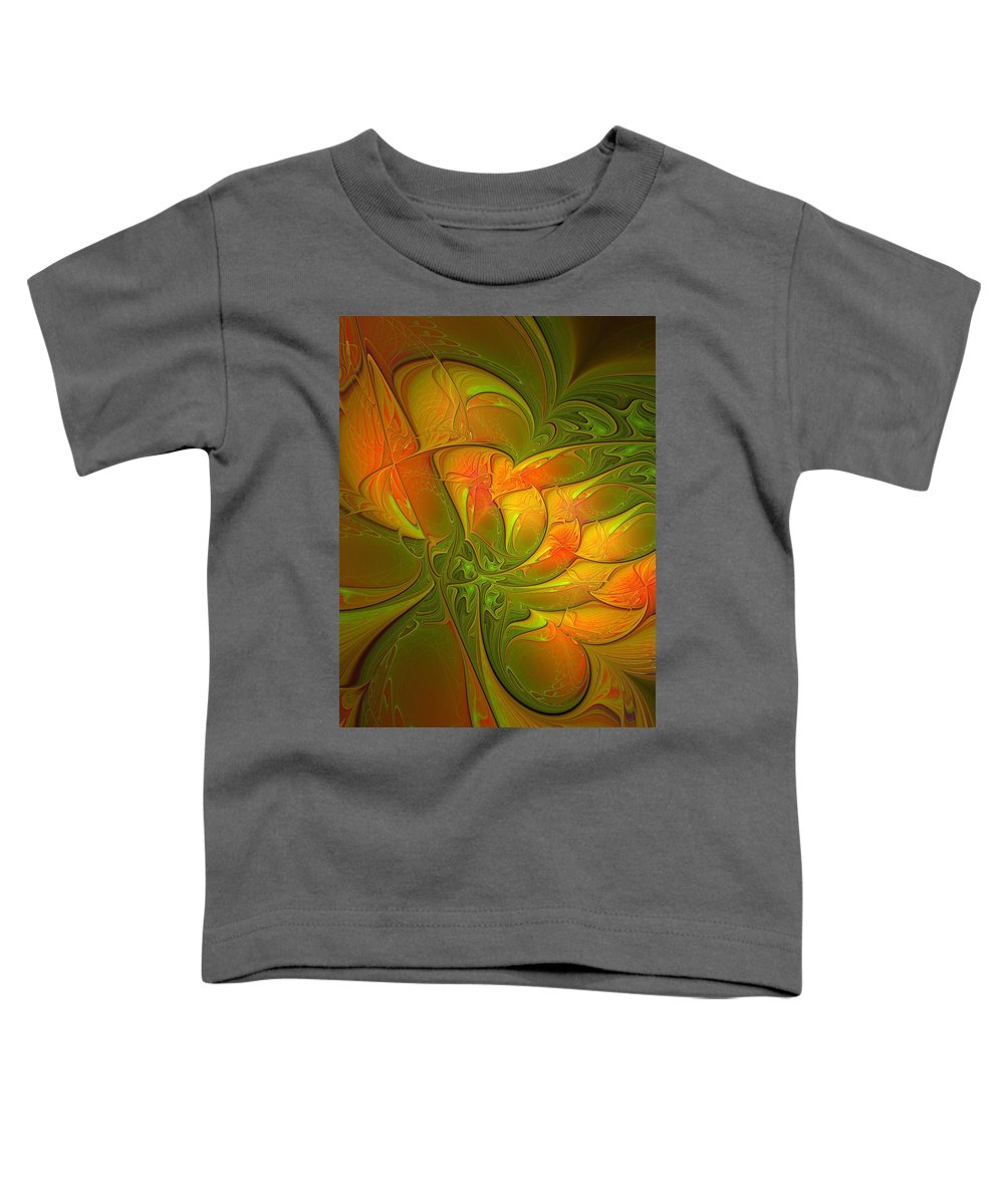 Digital Art Toddler T-Shirt featuring the digital art Fiery Glow by Amanda Moore