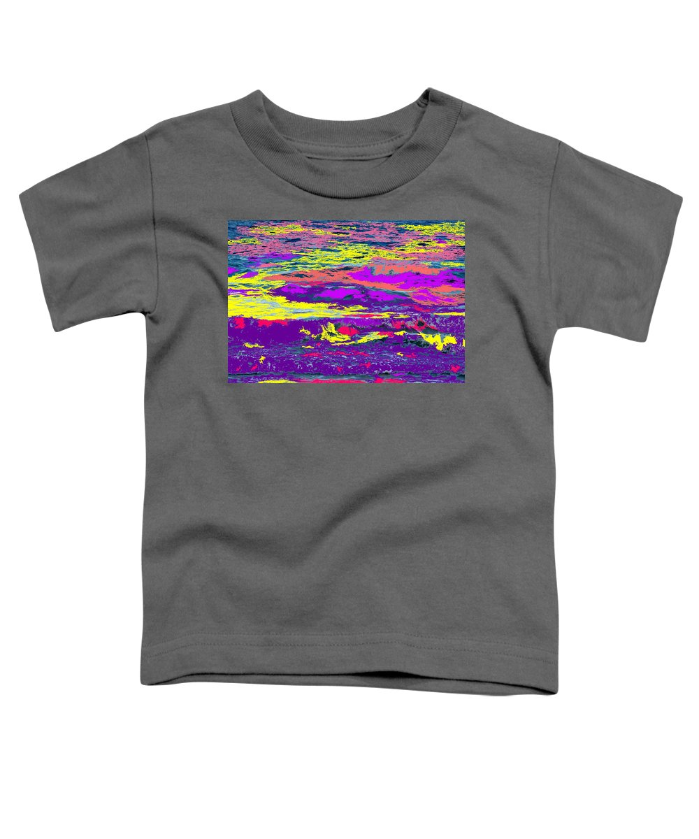 Ocean Toddler T-Shirt featuring the photograph Fiery Passion by Ian MacDonald