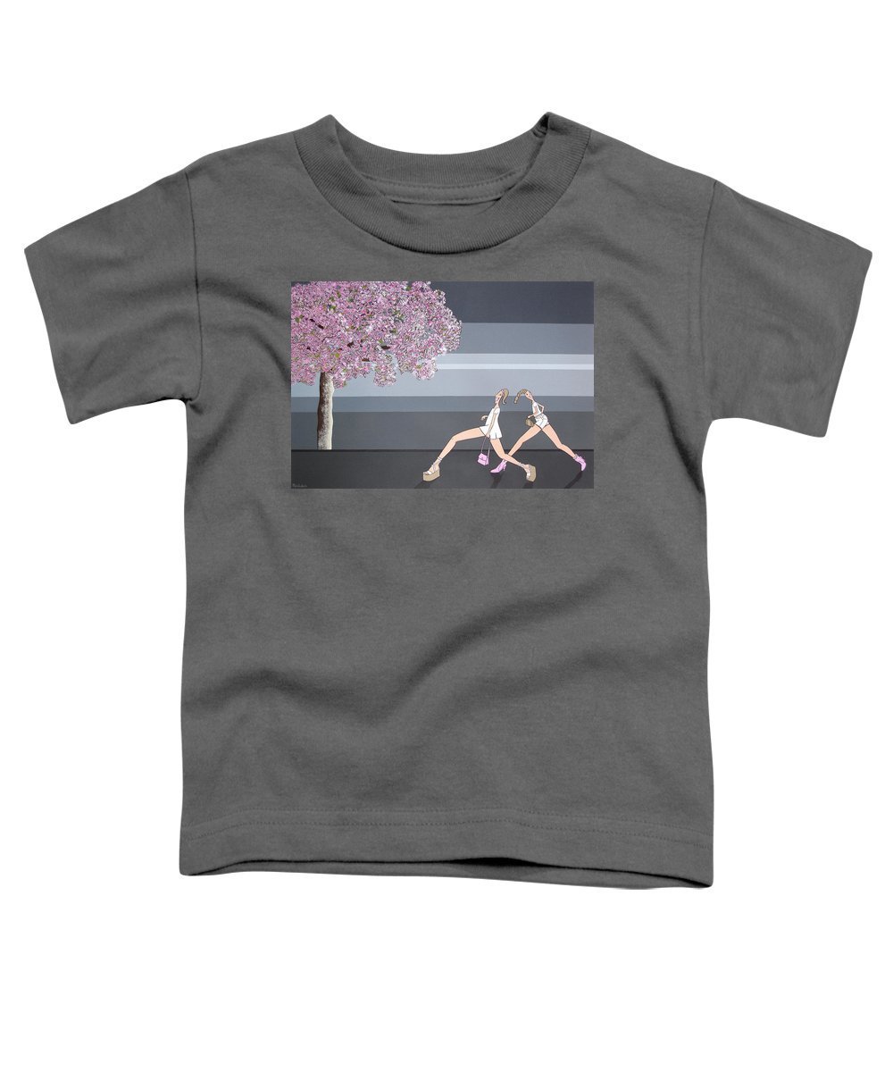 Girls Toddler T-Shirt featuring the painting Fifteen by Patricia Van Lubeck