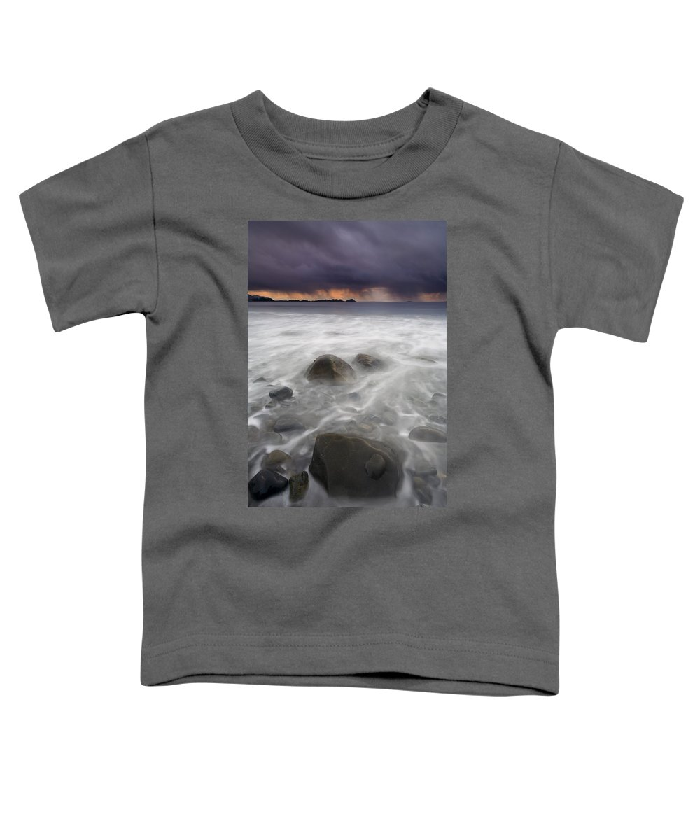 Storm Toddler T-Shirt featuring the photograph Fingers Of The Storm by Mike Dawson