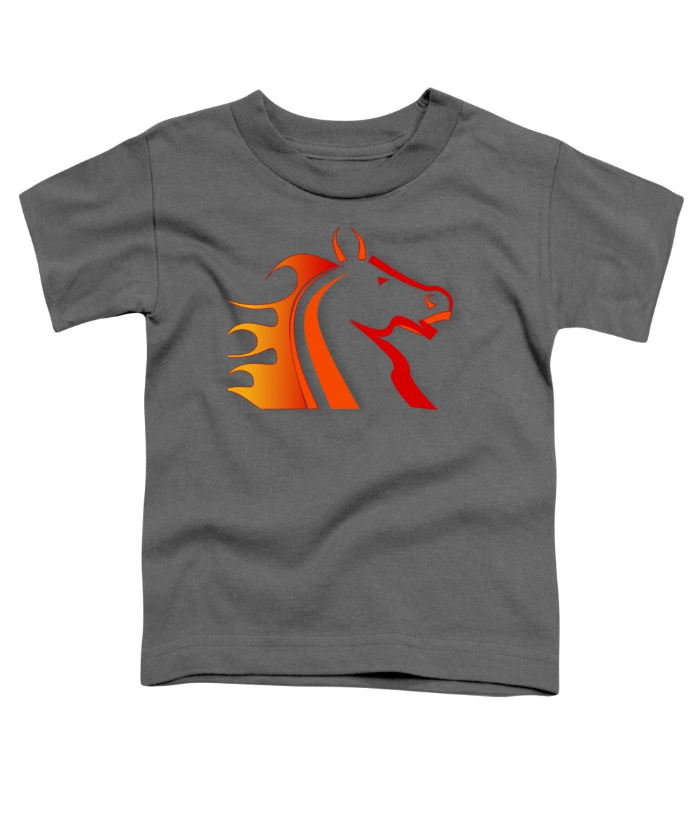 Horse Digital Art Toddler T-Shirts