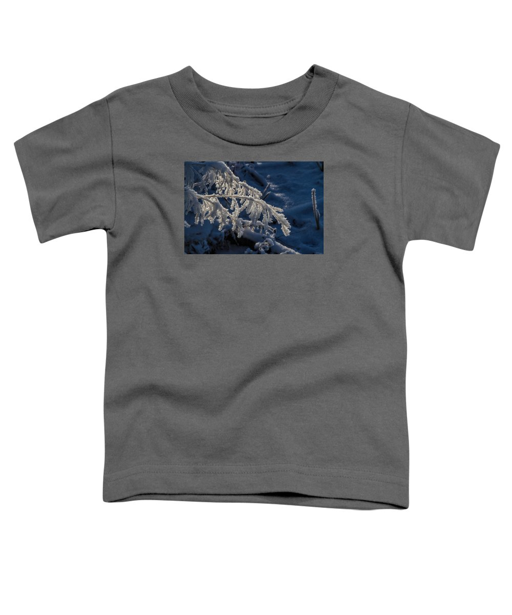 Frost Toddler T-Shirt featuring the photograph First Light by Alana Thrower