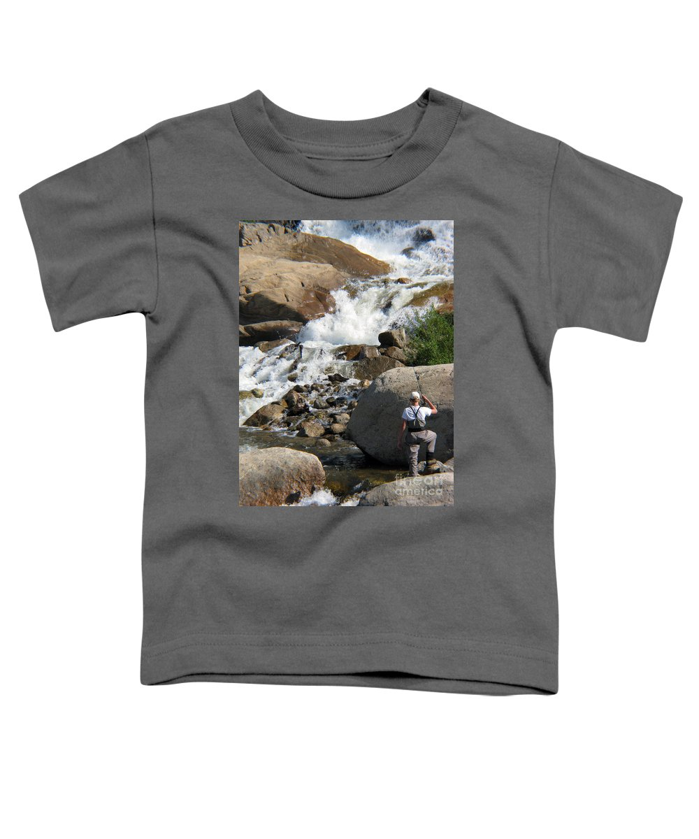 Fishing Toddler T-Shirt featuring the photograph Fishing Anyone by Amanda Barcon
