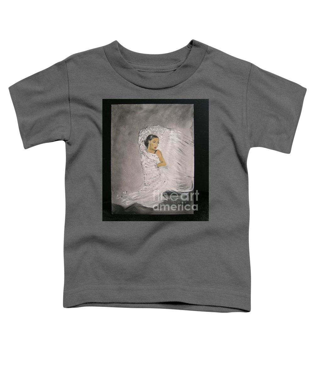 Spain Toddler T-Shirt featuring the painting Flamenco by Lizzy Forrester