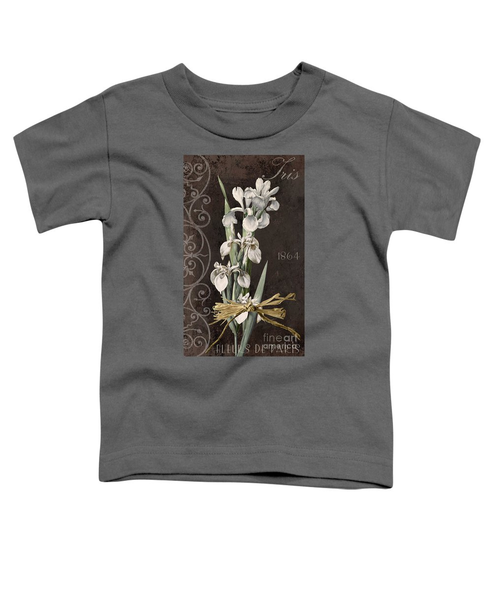 Iris Toddler T-Shirt featuring the painting Fleurs De Paris II by Mindy Sommers
