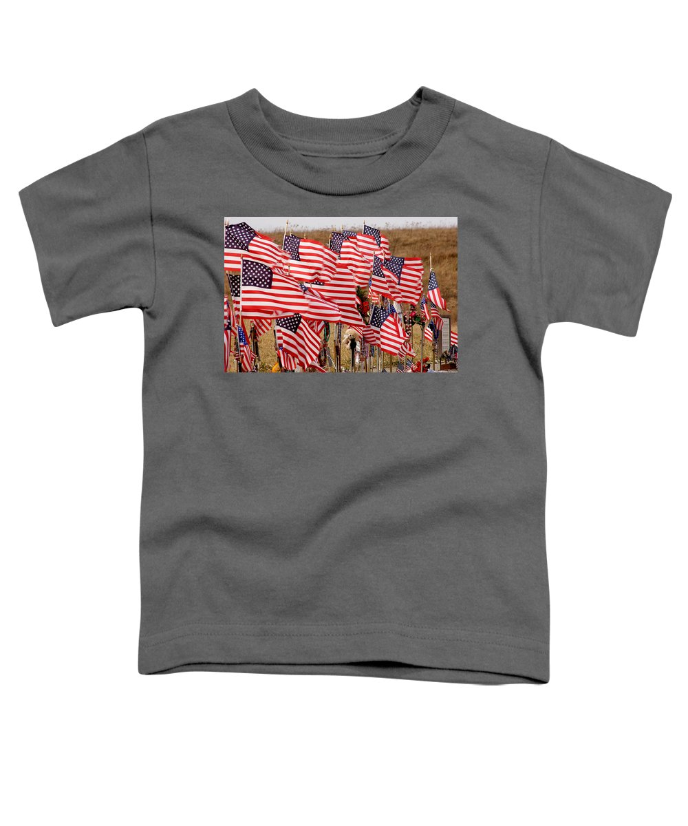 Flags Toddler T-Shirt featuring the photograph Flight 93 Flags by Jean Macaluso