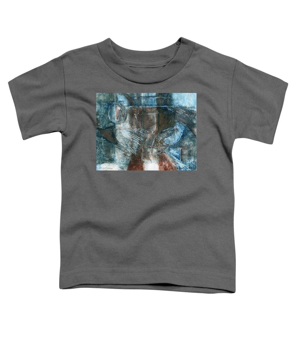 Flight Toddler T-Shirt featuring the drawing Flight Passage by Kerryn Madsen- Pietsch