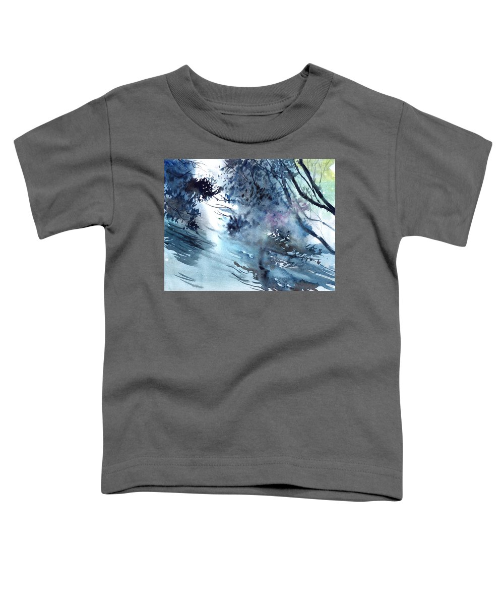 Floods Toddler T-Shirt featuring the painting Flooding by Anil Nene