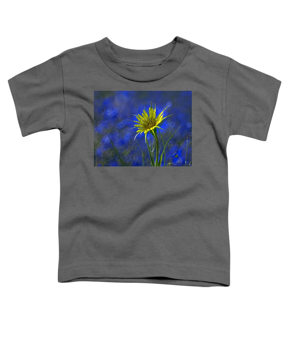 Flower Toddler T-Shirt featuring the photograph Flower And Flax by Heather Coen