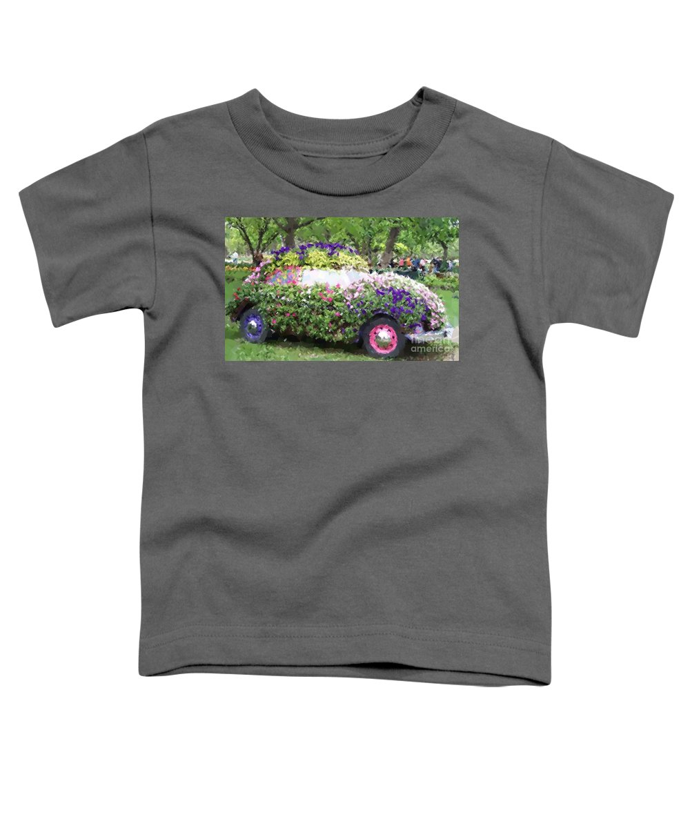 Cars Toddler T-Shirt featuring the photograph Flower Power by Debbi Granruth