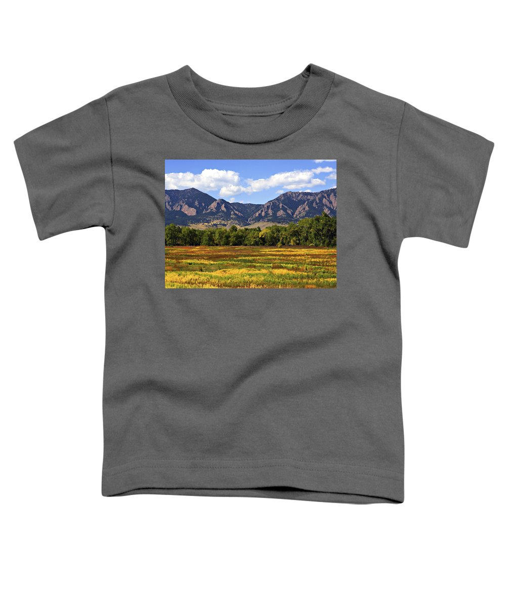 Fall Toddler T-Shirt featuring the photograph Foothills Of Colorado by Marilyn Hunt