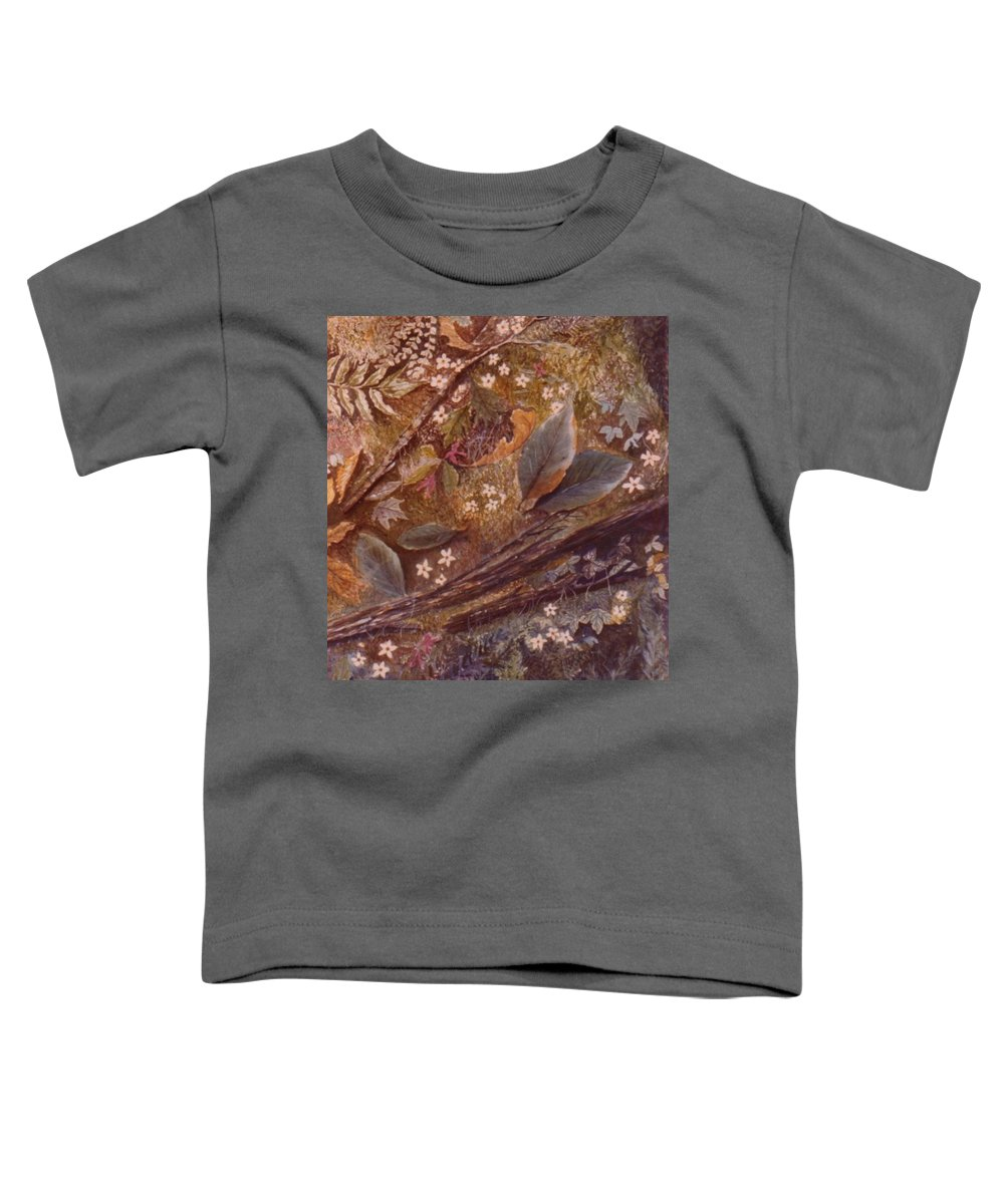 Leaves; Forest; Flowers Toddler T-Shirt featuring the painting Forest Floor by Ben Kiger