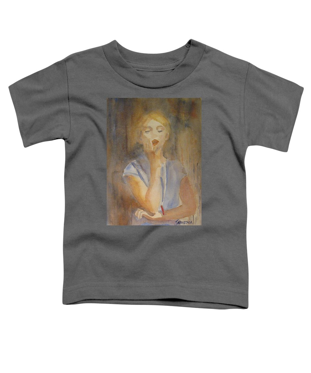 Woman Toddler T-Shirt featuring the painting Forest Singer by Jenny Armitage
