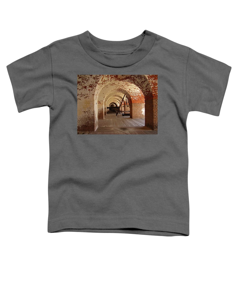 Fort Pulaski Toddler T-Shirt featuring the photograph Fort Pulaski II by Flavia Westerwelle