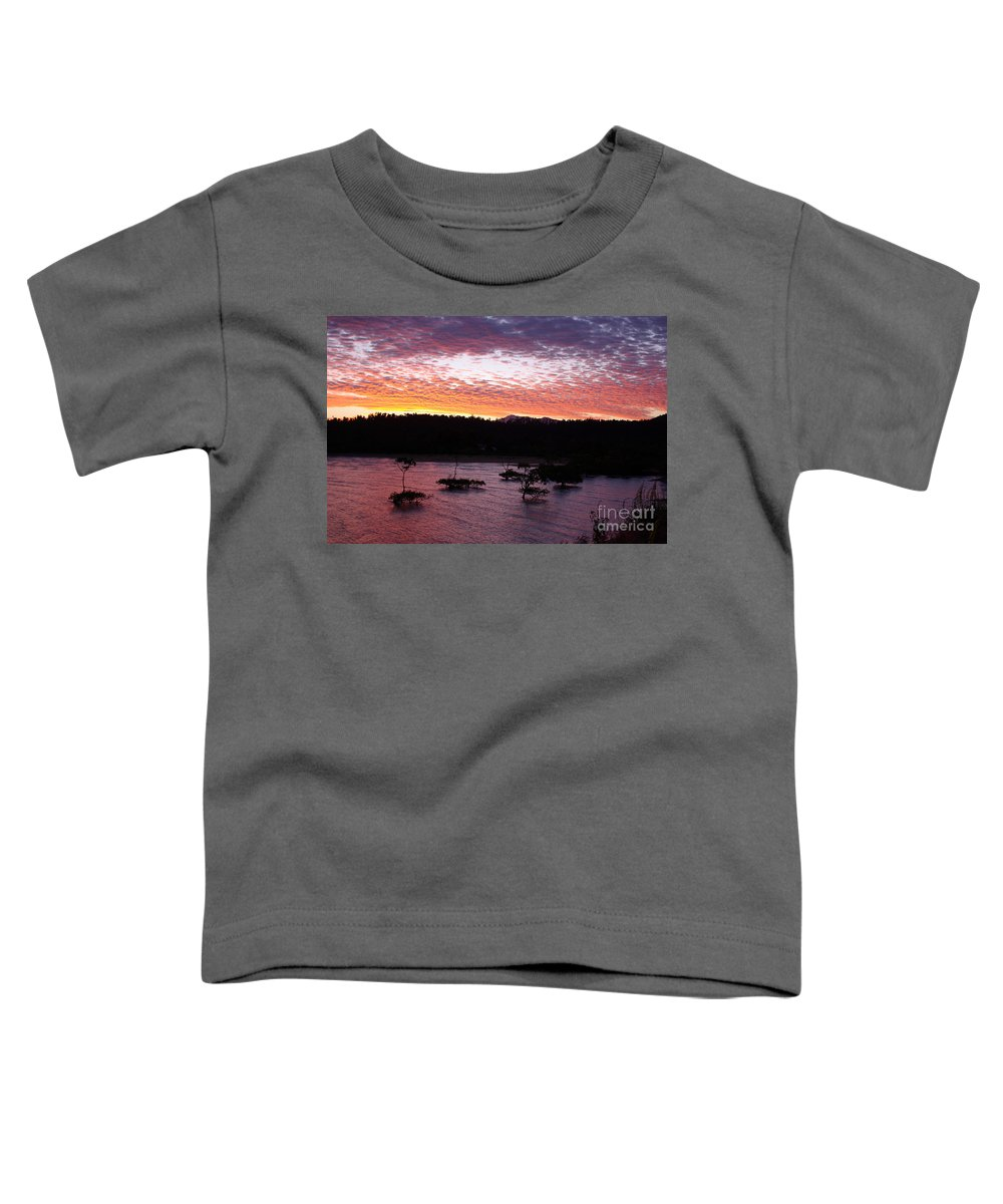 Landscape Toddler T-Shirt featuring the photograph Four Elements Sunset Sequence 3 Coconuts Qld by Kerryn Madsen - Pietsch