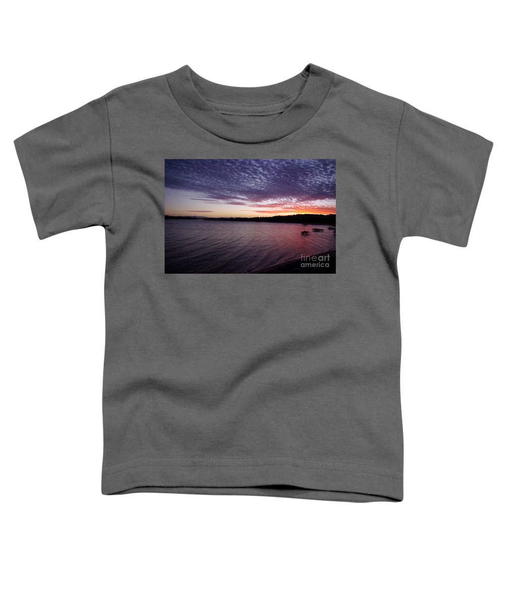 Landscape Toddler T-Shirt featuring the photograph Four Elements Sunset Sequence 4 Coconuts Qld by Kerryn Madsen- Pietsch