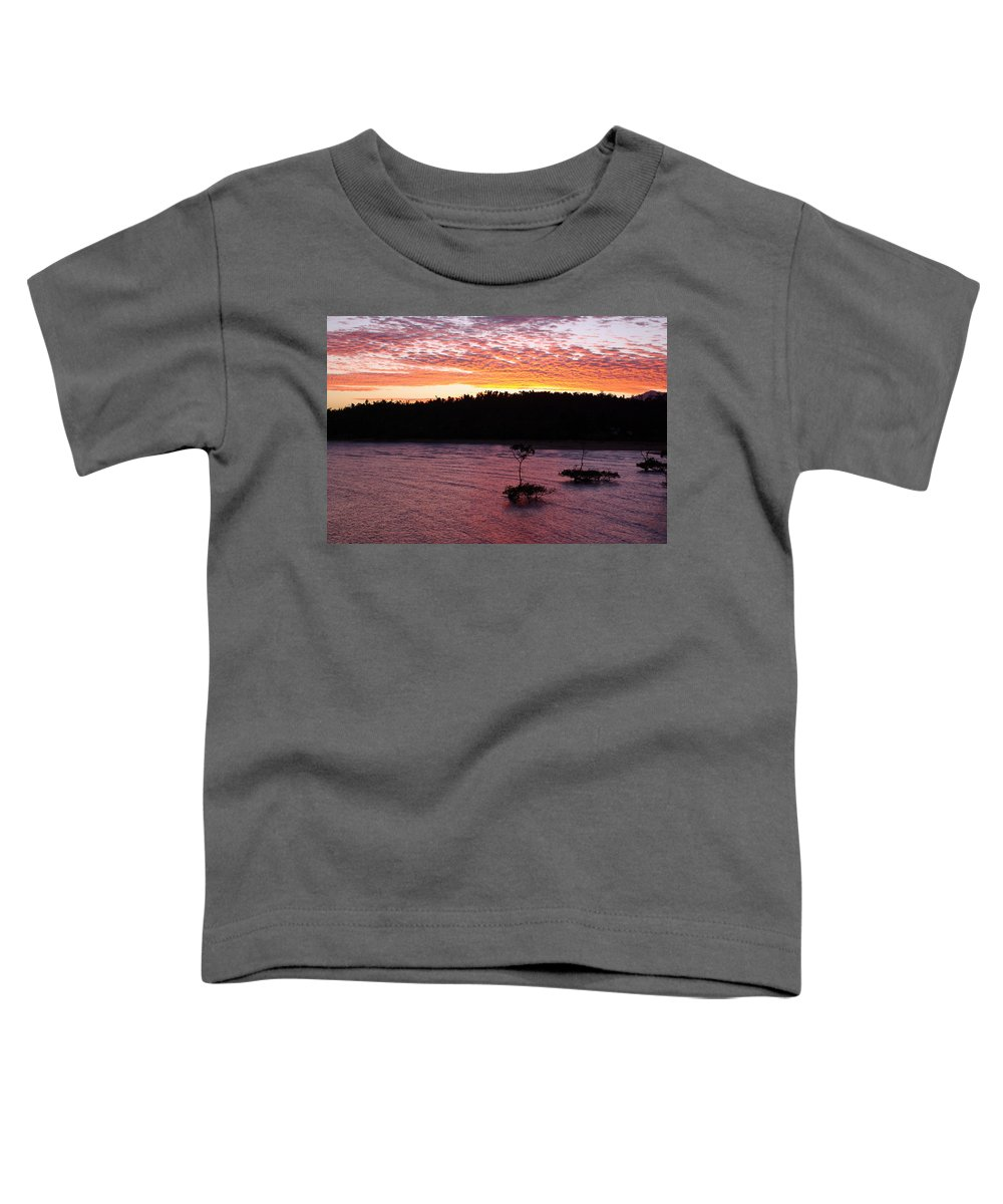 Landscape Toddler T-Shirt featuring the photograph Four Elements Sunset Sequence 5 Coconuts Qld by Kerryn Madsen - Pietsch