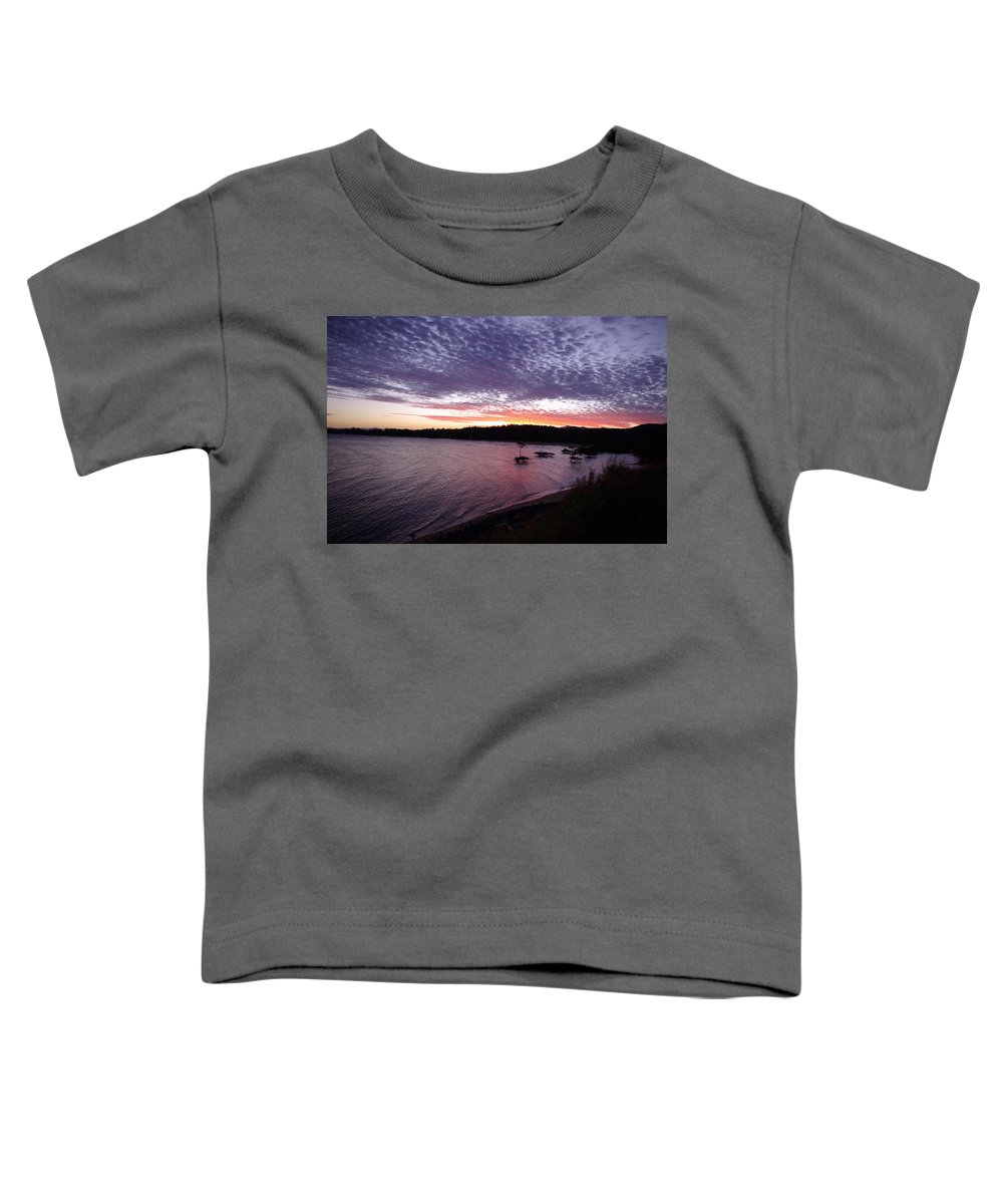 Landscape Toddler T-Shirt featuring the photograph Four Elements Sunset Sequence 6 Coconuts Qld by Kerryn Madsen-Pietsch