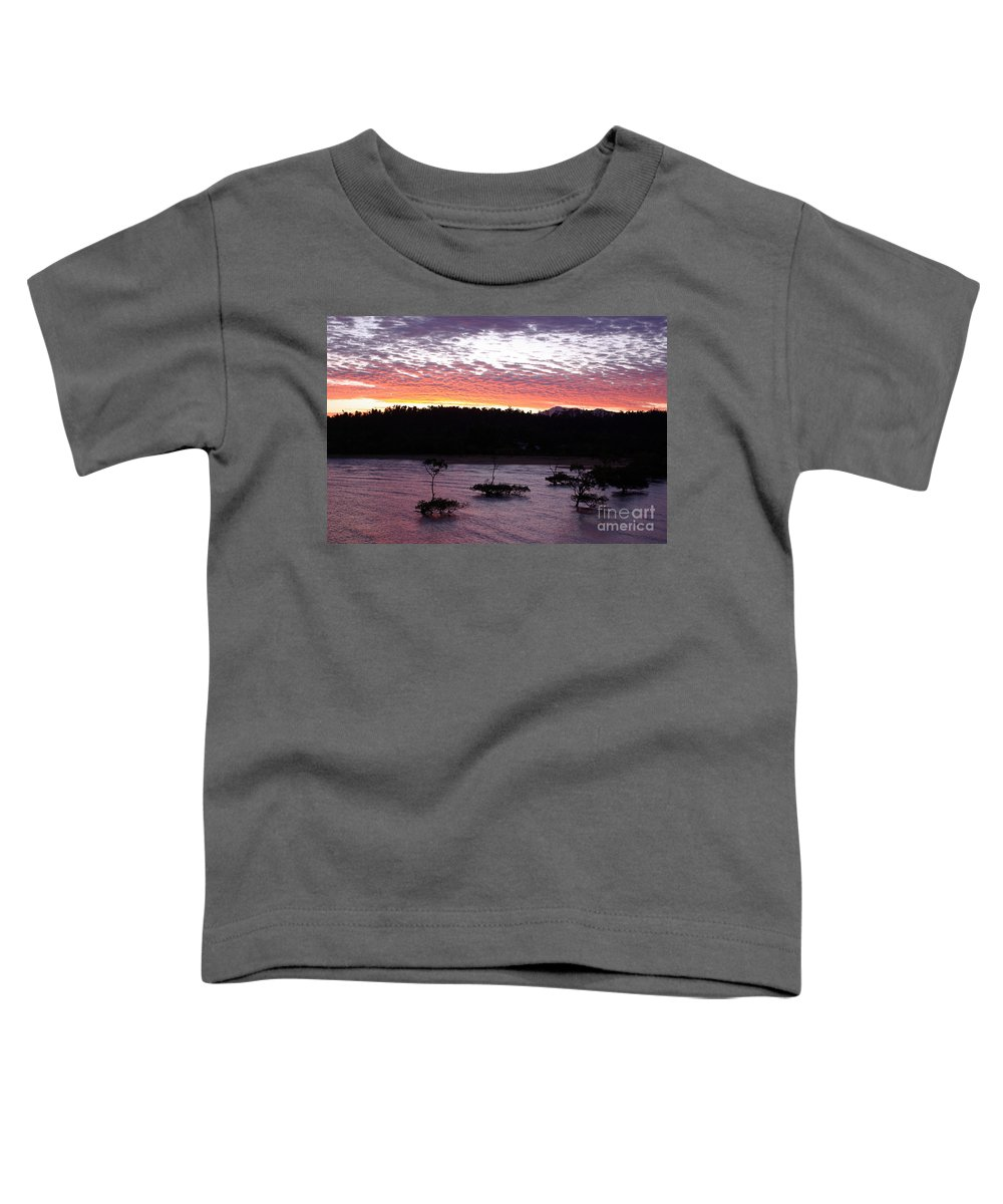 Landscape Toddler T-Shirt featuring the photograph Four Elements Sunset Sequence 8 Coconuts Qld by Kerryn Madsen - Pietsch