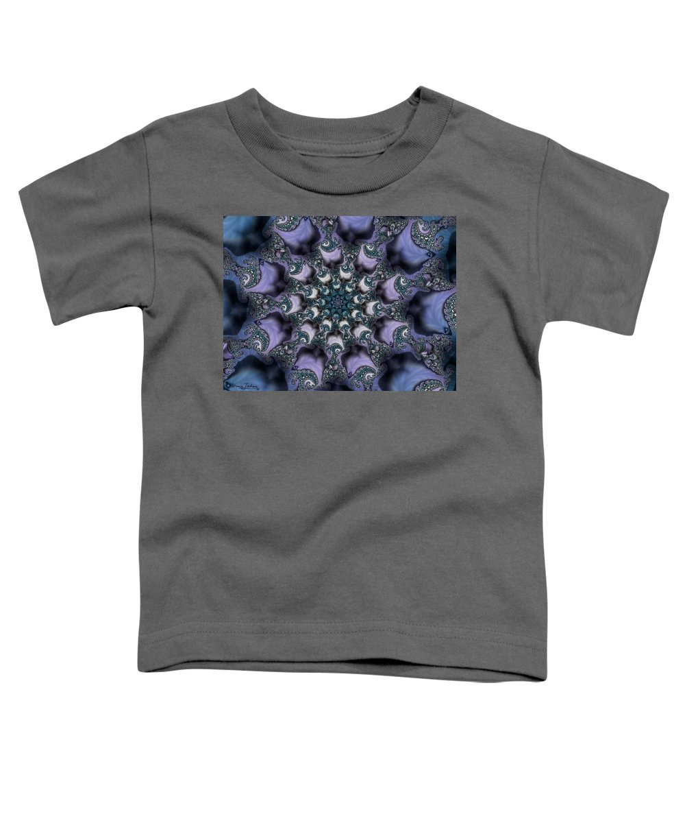 Fractal Rose Blossom Nature Life Organic Toddler T-Shirt featuring the digital art Fractal 1 by Veronica Jackson