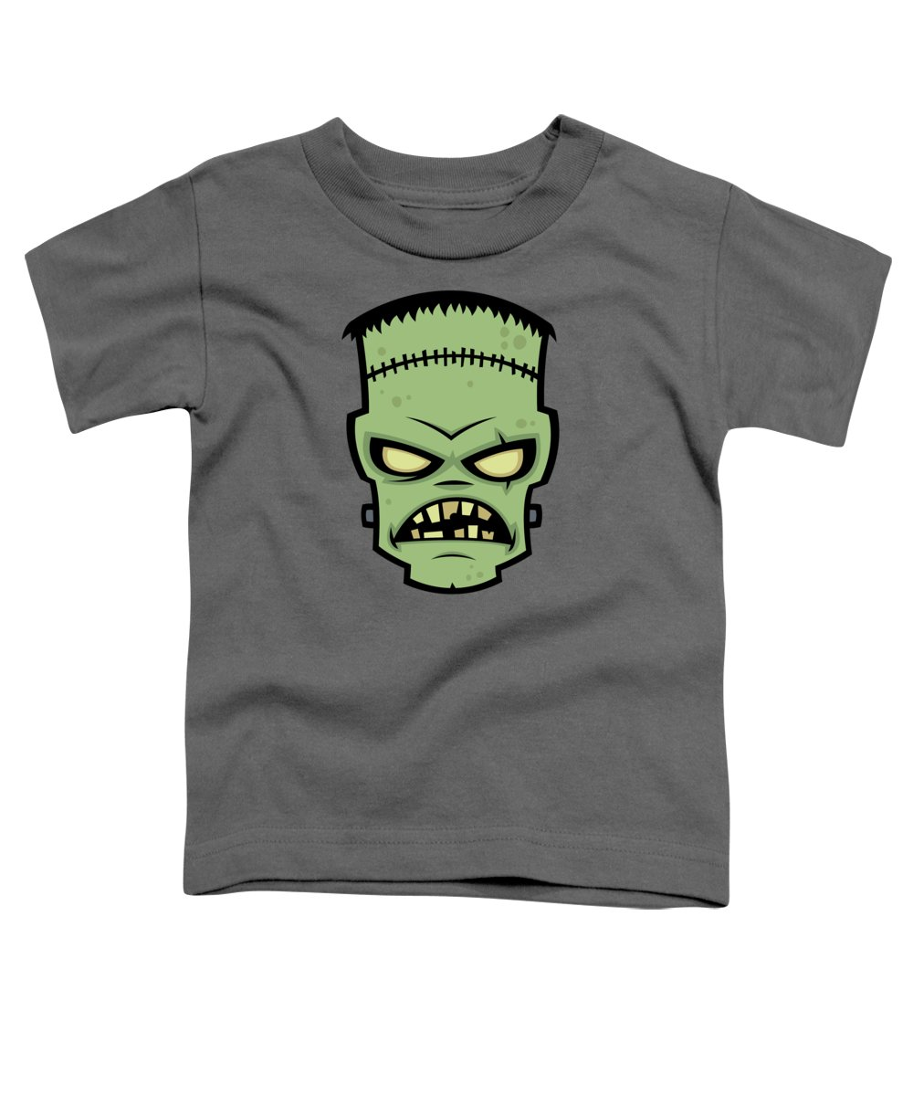 Frankenstein Toddler T-Shirt featuring the digital art Frankenstein Monster by John Schwegel