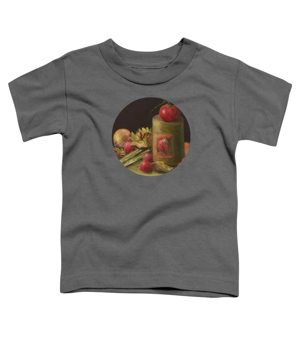 Still Life Toddler T-Shirt featuring the painting Freshly Picked by Mary Wolf