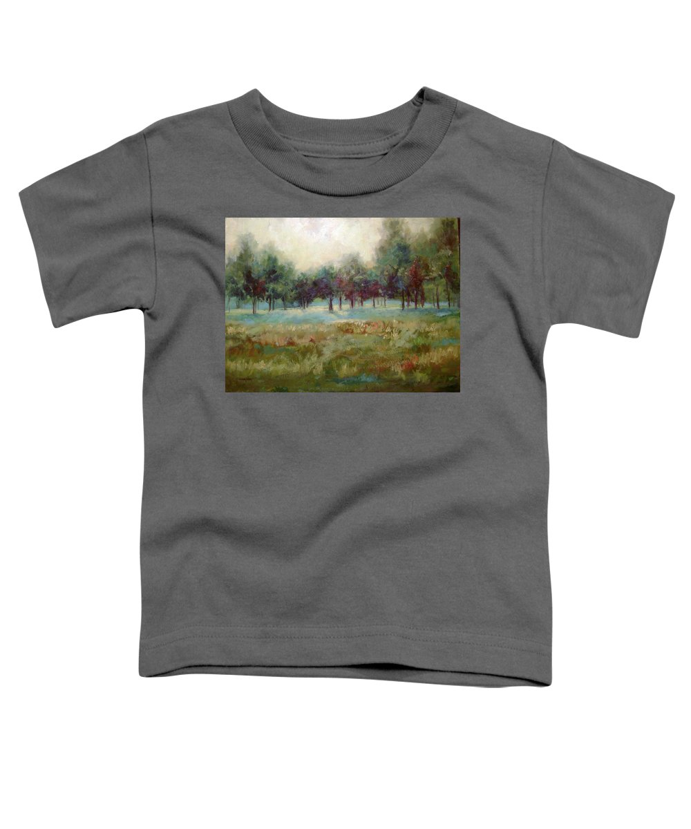Country Scenes Toddler T-Shirt featuring the painting From The Other Side by Ginger Concepcion