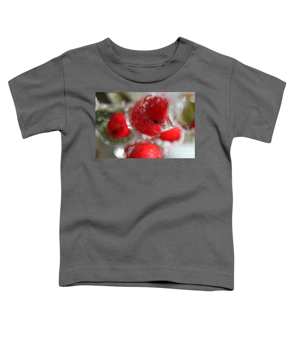 Berries Toddler T-Shirt featuring the photograph Frozen Winter Berries by Nadine Rippelmeyer