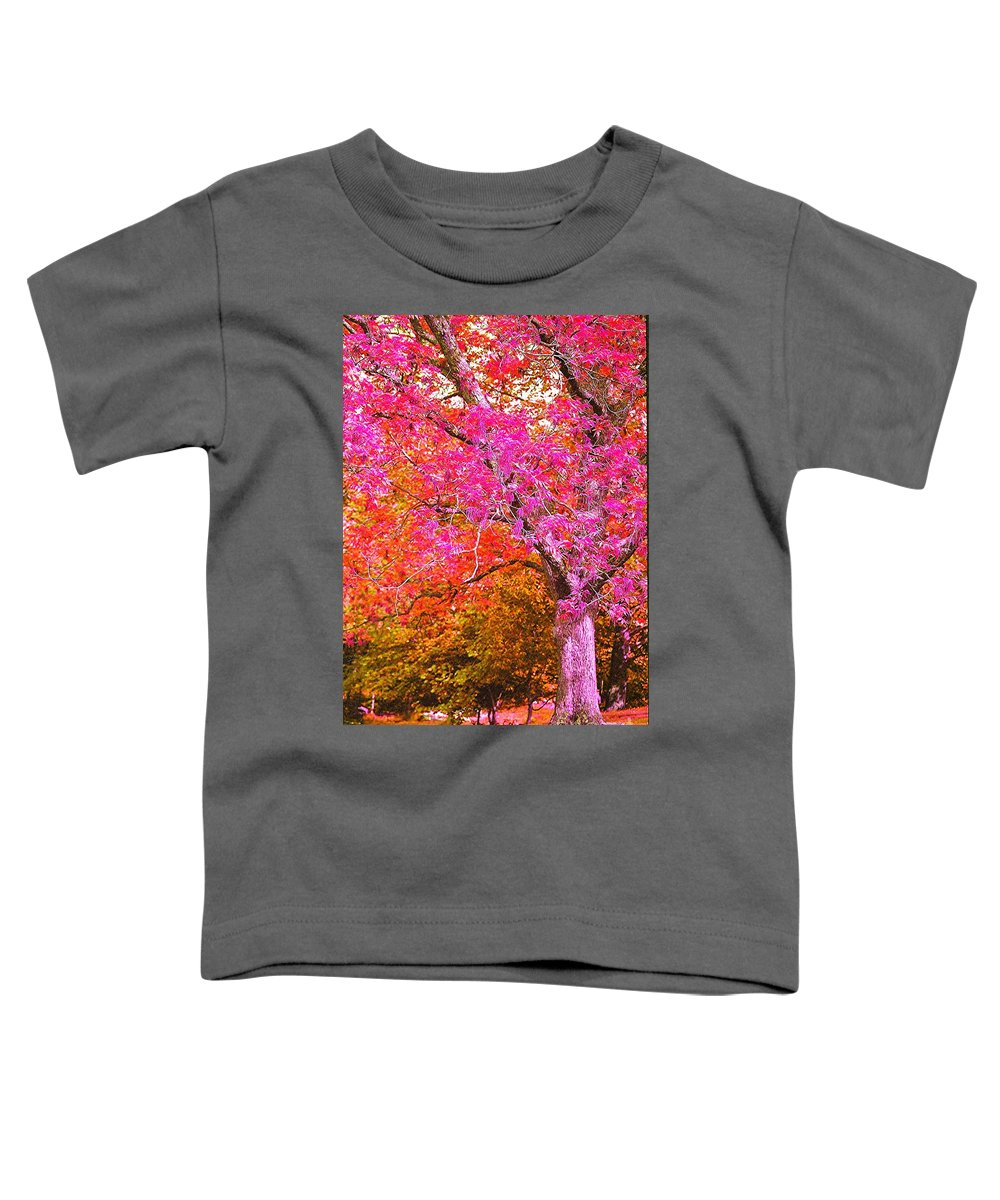 Fuschia Toddler T-Shirt featuring the photograph Fuschia Tree by Nadine Rippelmeyer