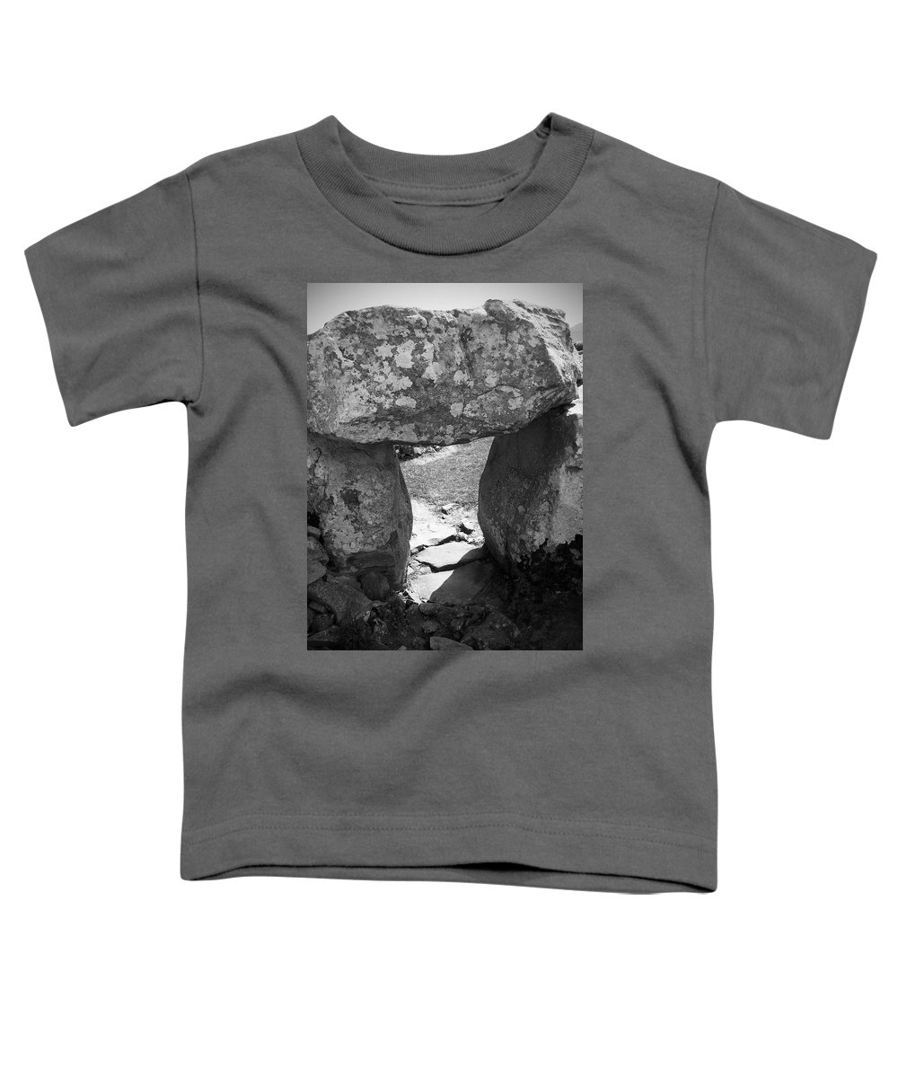 Ireland Toddler T-Shirt featuring the photograph Gallery Entrance At Creevykeel Court Cairn Ireland by Teresa Mucha