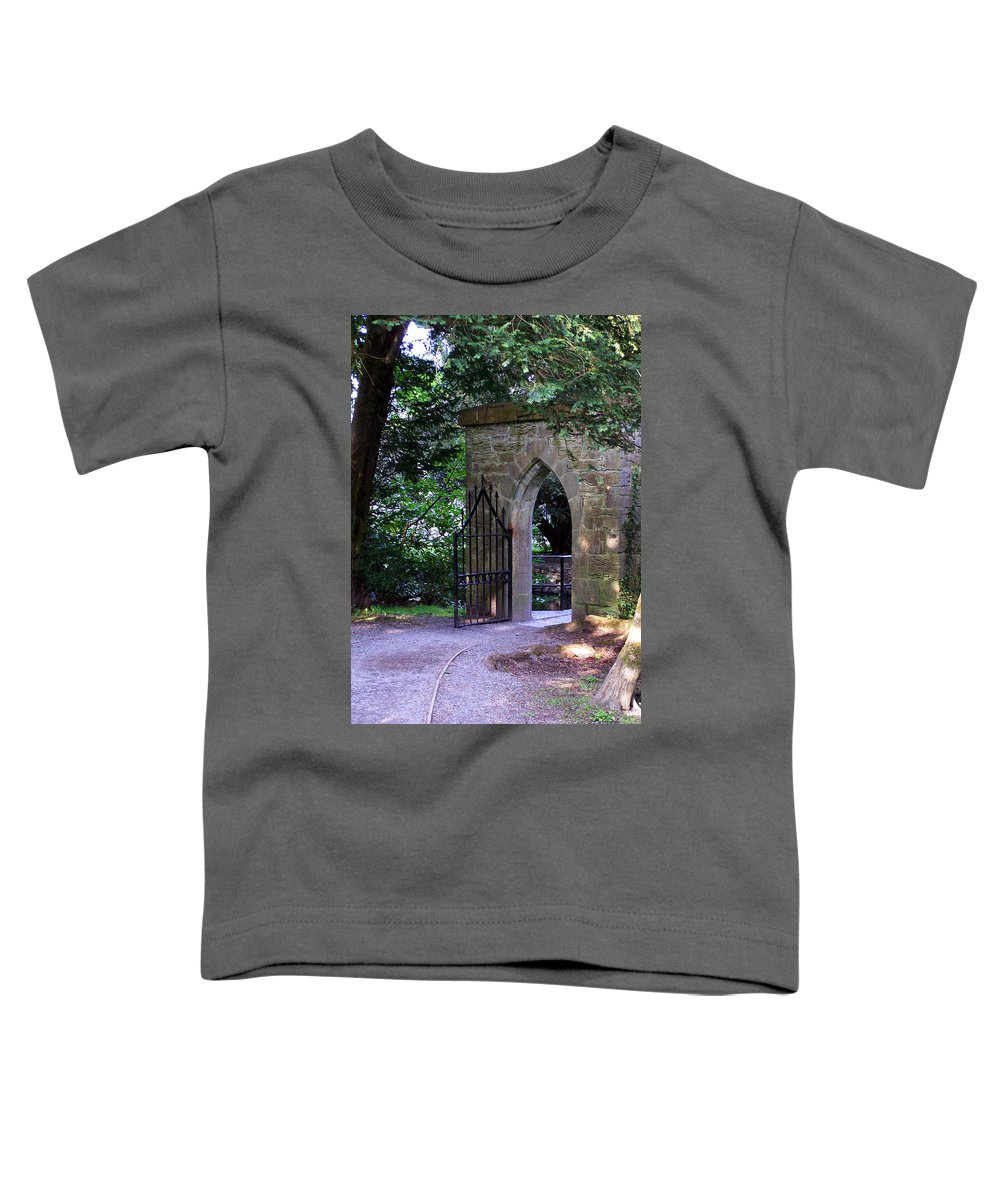Irish Toddler T-Shirt featuring the photograph Gate At Cong Abbey Cong Ireland by Teresa Mucha