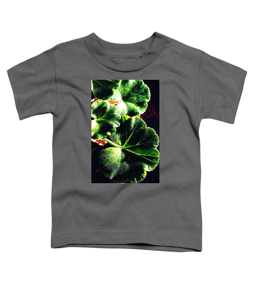 Geraniums Toddler T-Shirt featuring the photograph Geranium Leaves by Nancy Mueller