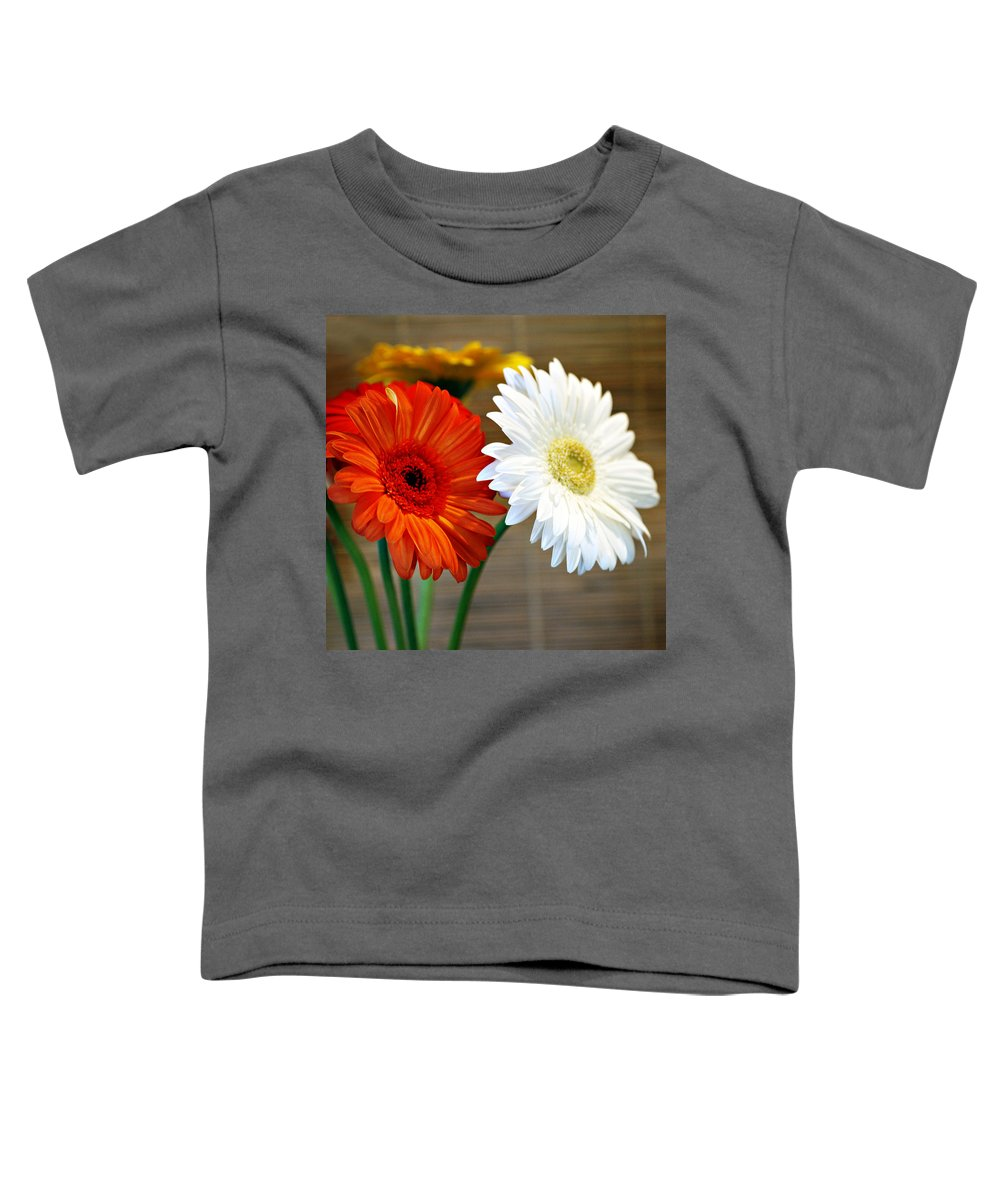 Flower Toddler T-Shirt featuring the photograph Gerbers by Marilyn Hunt