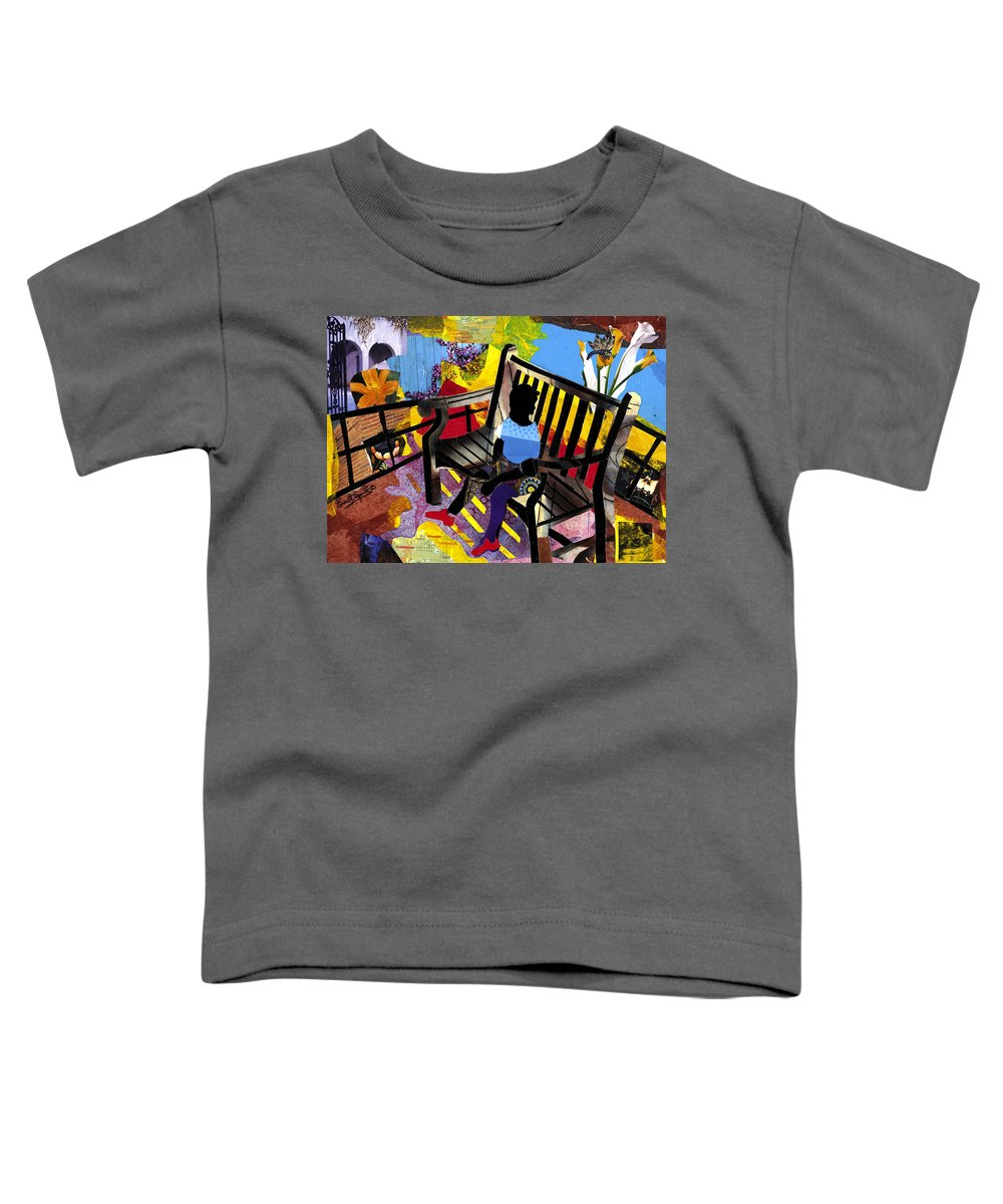 Everett Spruill Toddler T-Shirt featuring the painting Girl In Red Shoes by Everett Spruill