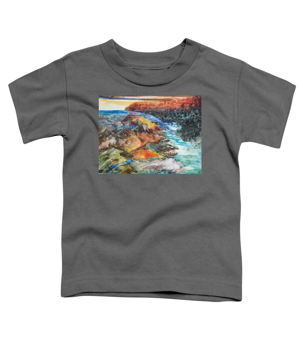 Abstract Toddler T-Shirt featuring the painting Glacial Meltdown by Ruth Kamenev