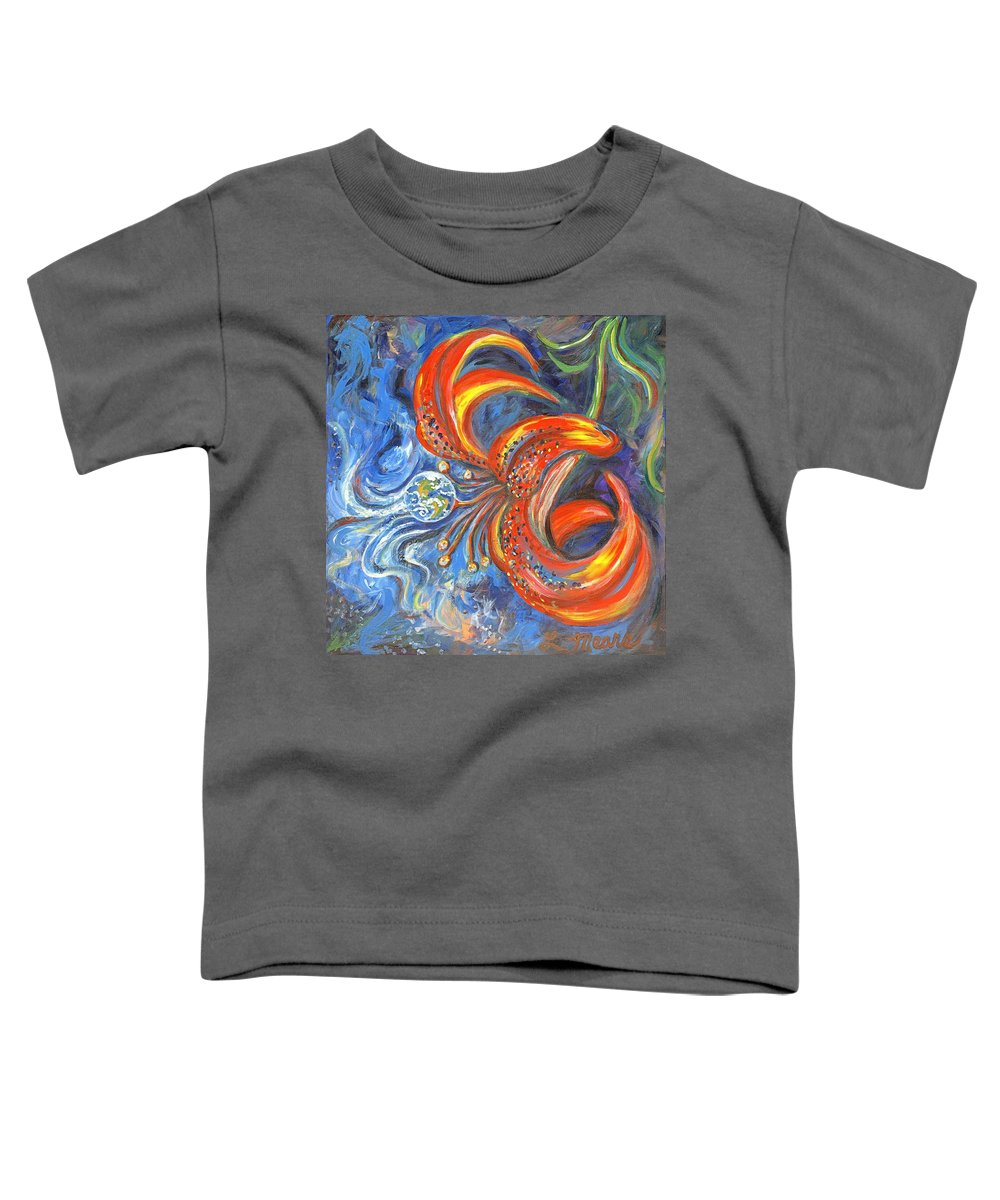 Flower Toddler T-Shirt featuring the painting Global Lily by Linda Mears