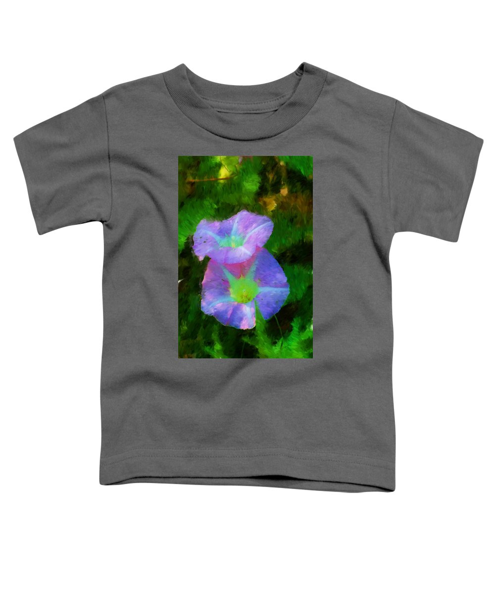 Floral Toddler T-Shirt featuring the painting Gloria In The Shade by David Lane