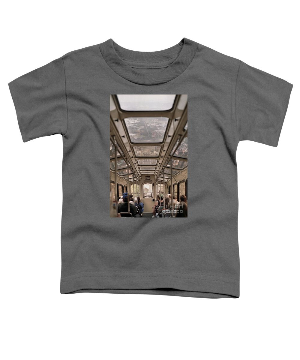Cable Car Toddler T-Shirt featuring the photograph Going Down by Richard Rizzo